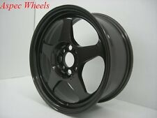 15X7 +40 SLIPSTREAM 4X100 GUN METAL WHEELS Fits Miata Integra Aveo Civic SI EG6