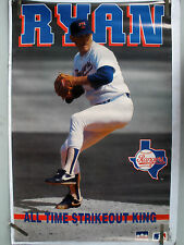 RARE NOLAN RYAN RANGERS STRIKE OUT RECORD 1992 VINTAGE ORIGINAL STARLINE POSTER