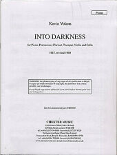 Kevin Volans Into Darkness Parts Clarinet Cello Piano Trumpet Violin Music Book