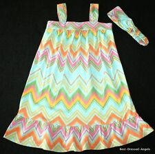 BABY GAP Lawn Party Zig Zag Knit Dress & Headband Set Girl Size 5 Adorable!