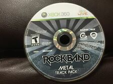 Rock Band: Metal Track Pack (Microsoft Xbox 360, 2009)DISC ONLY