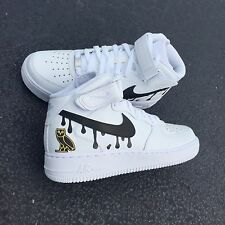 Nike Air Force 1 SIZE 6.5y CUSTOM 0*V*0 15 YEAR SELLER!