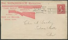 1899 RED ILLUSTRATED ADVT WINCHESTER,REPEATING SHOTGUN & RIFLE COVER VF BS1692