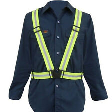 Adult Adjustable Safety Security Visibility Reflective Vest Gear Stripes Jacket