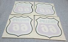 "Four 1967  8"" DECALS UNUSED PHILLIPS 66 Gas Service Station Pump Hot Rod,Rat Rod"