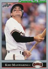 208   KIRT MANWARING    SAN FRANCISCO GIANTS  BASEBALL CARD LEAF 1992