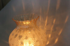 Vintage Art Noveau French Leopard Spot Tinted Tea Light Cover Glass Lamp Shade.