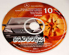2001 02 MERCEDES ML320 ML430 ML500 ML55 AMG NAVIGATION MAP NAV DISC CD 10 CANADA