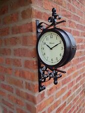 Outdoor Garden large wall  Station Clock & Temperature, swivels 49cm