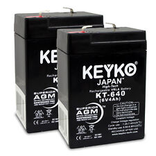 6V 4Ah SLA Sealed Lead Acid Replacement rechargeable Battery KEYKO ® (F1 ) 2PK