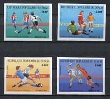 s5968) CONGO 1986 MNH** WC Football'86 - CM Calcio 4v IMPERF