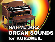 Kurzweil organ Hammond B3 Vox Farfisa sounds cd for pc3k8 pc3k7 pc3k6 pc3k 6 7 8
