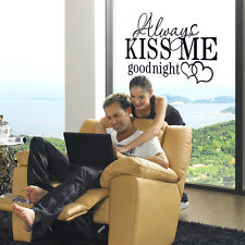 Quote Word KISS ME Art DIY Decal Vinyl Home Room Decor DIY Wall Stickers CHEAP!
