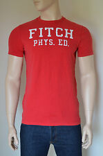 NEW Abercrombie & Fitch Fish Hawk Cliff Red Tee T-Shirt L