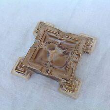 Cendrier en grès du Morvan Terre cuite irisée Forme Art Deco Tampon a l'encre