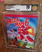 Mega Man 6 VI Nintendo NES New Factory Sealed VGA 70 Excellent+ MM6 Video Game