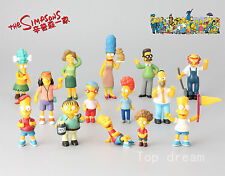 14X The Simpsons Family Bart Simpson Homer Mini Action Figure Cake Toppers Toys