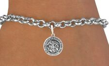 Saint Michael Antique Medal Bracelet Silver Plated New Great Gift Blessed