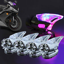 4pc Motorcycle Auto Wind Powered LED Light For Yamaha Honda BMW Aprilia Toyota