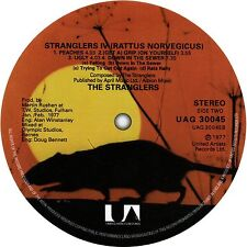 The Stranglers. Rattus Norvegicus record label sticker. Punk