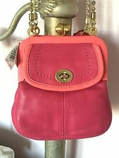 NEW Coach Limited Edition Bonnie Cashin Leather Small Frame Handbag Purse 13765