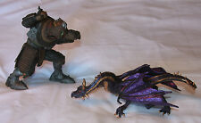 "McFarlane Monster 7"" & Purple Dragon 8 1/2"" Action Figures Plastic"