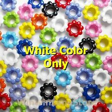 100 Pcs Mixed Colors Flower Aluminum Eyelet Card Hole Scrapbooking Leather Craft