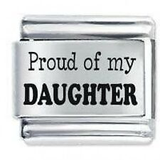 PROUD OF MY DAUGHTER Daisy Charm JSC Fits Classic Size Italian Charms Bracelet