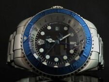 Invicta Reserve Men Swiss Made Hydromax Pro Diver GMT Blue Black Dial SS Watch