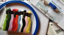 Punch Need Kit with 3 size needle Embroidery Floss - Hoop Trans From WEBSTERS