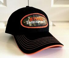 Stihl Timbersports Black Fabric Hat Cap w Orange and Camo Details