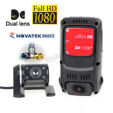 US SHIP!B40S Plus 2CH Dual Len Capacitor 1080P Rotatable Car Dash Camera Video