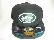 NEW YORK JETS (NEW ERA 5950) FITTED HAT (6 5/8) NW/TAGS FLAT RIM BLACK