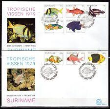 Suriname - 1979 Fish - Mi. 869-76 clean FDC's