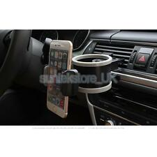 Car Phone Mount and Drink Water Bottle Cup Can Holder COMBO Grey