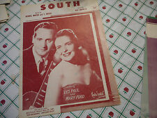 Les Paul & Mary Ford South 1941 Photo Sheet Music