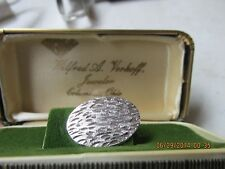 Vintage Sterling Silver Tie Clasp from Columbus, Ohio Jeweler with Original Box
