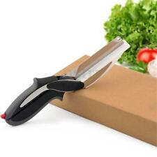 New Cutter 2-in-1 Food Chopper Replace Kitchen Knives and Clever Cutting Board