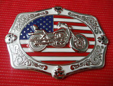 AMERICAN FLAG CHOPPER BIKE BIKER EASY RIDER MOTORCYCLE MOTORBIKE BELT BUCKLE