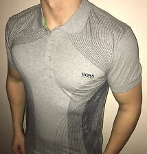 Hugo Boss Polo Top size XL Men's BNWT NEW Grey Slim Fit *green label*