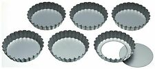 Kitchen Craft Set Of Six 10Cm Loose Base Tart Tins