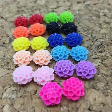 Resin Flower Cabochons - 10mm Dahlia Sampler - 30pcs
