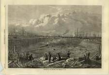1869 The New East And West India Docks Extension Popular Under Construction