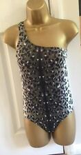 BNWT NEXT Tummy Control One Shoulder Animal Print Swimsuit Swimming Costume 8