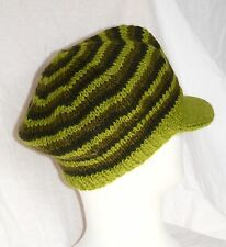 Strick Mütze mit Schild_Wolle_woolen hat knitted with visor_Rasta, Dreadlocks