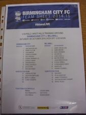 07/11/2014 Birmingham City Youth v Nottingham Forest Youth [At Wast Hills] (Colo