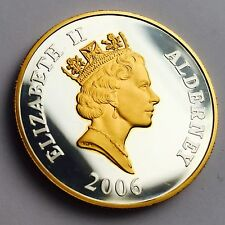 Queen Elizabeth 80th Birthday £5 Commemorative Alderney Silver Coin 2006