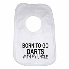 Born to Go Darts with My Zio Personalizzato Cotone Neonato Bavaglino for