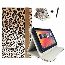 "ZTE V9 - 7 inch Case Cover - 7"" Tiger Print Brown"