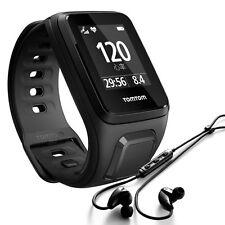 TomTom Spark Cardio + Music Laufuhr Multisport Herzfrequenz inkl.Kopfhörer black